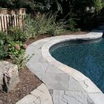 stone poolside